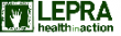 Lepra Health in Action logo